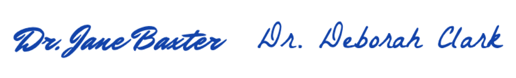 Dr. Jane & Deborah signatures